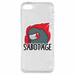 Чохол для iPhone SE Among Us Sabotage