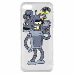 Чохол для iPhone SE Bender and the heads of robots