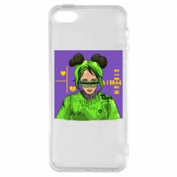 Чохол для iPhone SE Billy Eilish on purple background