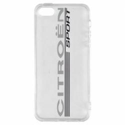 Чехол для iPhone SE Citroen Спорт