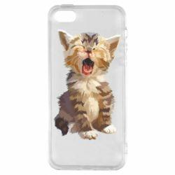 Чохол для iPhone SE Cute kitten vector