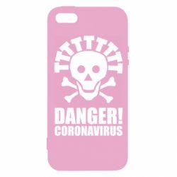 Чохол для iPhone SE Danger coronavirus!