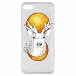 Чохол для iPhone SE Deer and moon