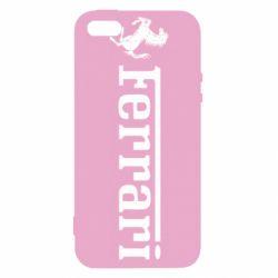 Чехол для iPhone SE Ferrari