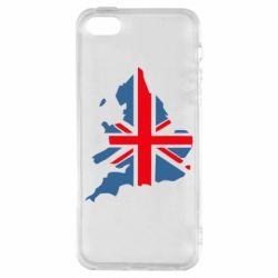 Чехол для iPhone SE Флаг Англии