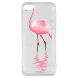 Чохол для iPhone SE Фламинго