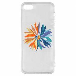 Чохол для iPhone SE Flower coat of arms of Ukraine