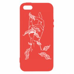 Чохол для iPhone SE Hand with leafs