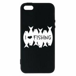 Чохол для iPhone SE I Love Fishing