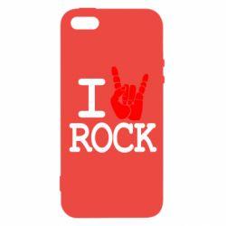 Чехол для iPhone SE I love rock