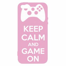Чехол для iPhone SE KEEP CALM and GAME ON