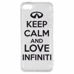 Чехол для iPhone SE KEEP CALM and LOVE INFINITI