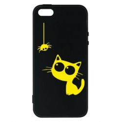 Чохол для iPhone SE Котик і павук