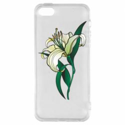 Чохол для iPhone SE Lily flower