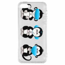 Чохол для iPhone SE Monkeys in medical masks