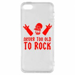 Чехол для iPhone SE Never old to rock (Gomer)