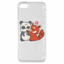 Чохол для iPhone SE Panda and fire panda