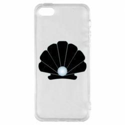 Чохол для iPhone SE Shell with a pearl