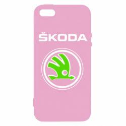 Чехол для iPhone SE Skoda Bird