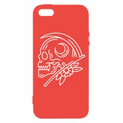 Чохол для iPhone SE Skull with scythe