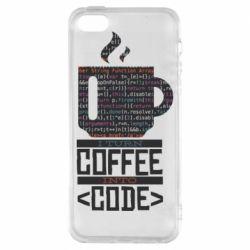 Чохол для iPhone SE Сoffee code