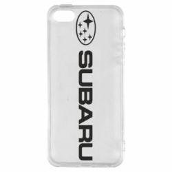 Чехол для iPhone SE Subaru logo