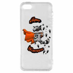 Чохол для iPhone SE Super raccoon