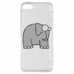 Чехол для iPhone SE удивленный слон