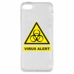 Чохол для iPhone SE Warning Virus alers