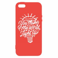 Чохол для iPhone SE You know your make my world light up coldplay