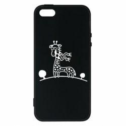 Чохол для iPhone SE жираф