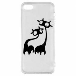 Чохол для iPhone SE Жирафи