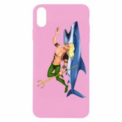 Чехол для iPhone X/Xs Aquaman with a shark