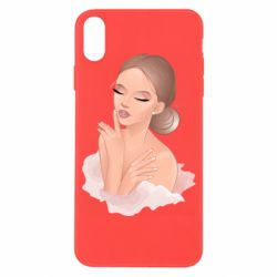 Чехол для iPhone X/Xs Beautiful art girl