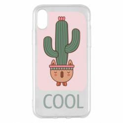 Чехол для iPhone X/Xs Cactus art