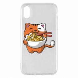 Чохол для iPhone X/Xs Cat and Ramen