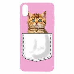 Чехол для iPhone X/Xs Cat in your pocket