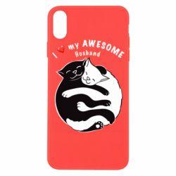 Чехол для iPhone X/Xs Cats and love