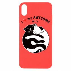 Чехол для iPhone X/Xs Cats with a smile