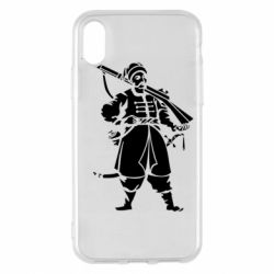 Чехол для iPhone X/Xs Cossack with a gun
