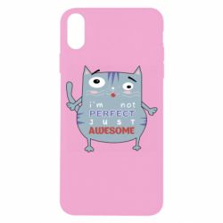 Чехол для iPhone X/Xs Cute cat and text