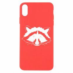 Чохол для iPhone X/Xs Cute raccoon face