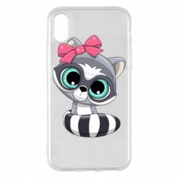 Чехол для iPhone X/Xs Cute raccoon