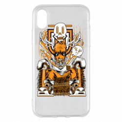Чехол для iPhone X/Xs Deer On The Throne