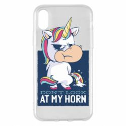 Чохол для iPhone X/Xs Don't look at my horn