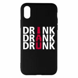 Чехол для iPhone X/Xs Drink Drank Drunk
