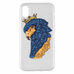 Чехол для iPhone X/Xs Eagle with a crown on its head