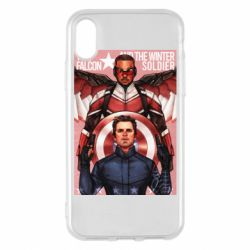 Чохол для iPhone X/Xs Falcon and the Winter Soldier Art