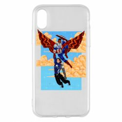 Чохол для iPhone X/Xs Falcon holds Bucky