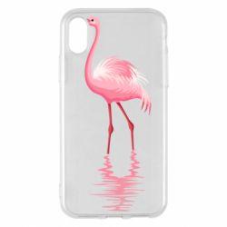 Чохол для iPhone X/Xs Фламинго